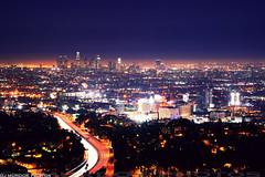 night fall in the city of angels.. (dj murdok photos) Tags: longexposure landscape losangeles hollywood freeway citylights lighttrails dtla lightstreaks downtownlosangeles 101freeway a850 sonyalpha djmurdokphotos