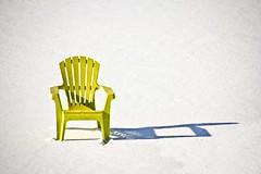 Chair (Kathy~) Tags: winter snow shadow yellow one chair single herowinner gamewinner thepinnaclehof tphofweek191 fotocompetition fotocompetitionbronze favescontestwinner friendlychallenges 15challengeswinner instagram