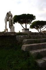 Temple of Hercules (Scott SM) Tags: italy rome statue temple ruins roman antica eurotrip archeology ostia hercules ercole ostiaantica tempio cartilius poplicola