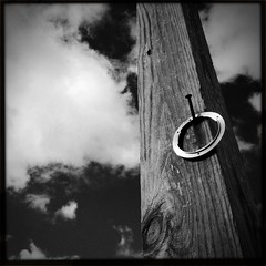 Wood and metal. (PranamGurung) Tags: wood texture metal rings gurung iphone pranam