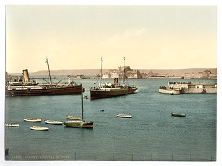 [Jersey, arrival of boats, St. Heliers, Channe...