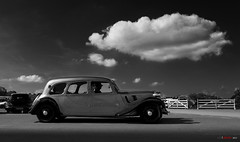 Under the thought cloud..... (bent inge) Tags: citroën citroen traction tractionavant 11 11limousine1939 15thicccr harrogate yorkshire england gb britain classic monochrome cloud vintage frenchcars 2cv ds bentingeask askphoto 2012