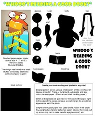"""PATTERN:  """"Whooo's Reading a Good Book"""" poster (Enokson) Tags: school signs cute coffee cutout paper out poster reading book design pattern display cut who good library libraries patterns humor books humour read company starbucks displays signage owl posters cutting instructions collectible schools cutter instruction collectibles owls middleschool pun puns librarybooks juniorhigh librarysignage pieced librarybook librarydisplays piecing librarysigns middleschools """"paper who's juniorhighschools schooldisplays whosreadingagoodbook vblibrary enokson whooo's piecing"""" whooosreadingagoodbook jenoksondisplay enoksondisplay jenoksondisplays enoksondisplays"""