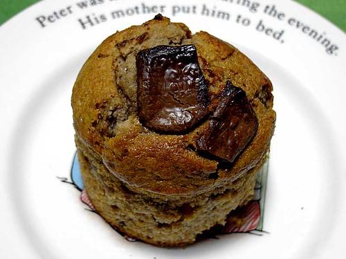 キャラメルリンゴ入りチョコケーキ