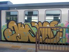 unisci i puntini (en-ri) Tags: train writing torino graffiti azzurro verdino marroncino duans