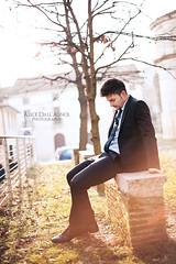 Francesco (Alice D. Photography) Tags: light portrait sunlight man canon outside 50mm model 14 uomo sit 5d ritratto markii elegante modello vestito