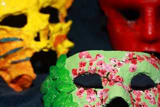 Intricate flower mask