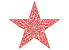 wanara_3 (REKA KUFI) Tags: red art logo star design graphic arabic calligraphy jawi khat kufic kufi