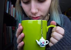 13/365 (boringphotography) Tags: portrait green girl self photography tea drink relaxing books calm days pale mug teapot 365 oolong teaball oolongtea highmountainoolong teastory lisamariecarrick