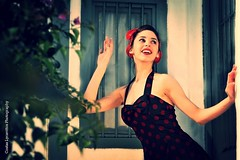 Pin up girl (Costas Lycavittos) Tags: fashion athens plaka pinup  lycavittos nikond700   costaslycavittos  nikkor70200afs
