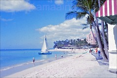 Moana Surfrider Beachfront 1963 (Kamaaina56) Tags: beach hawaii waikiki slide 1960s