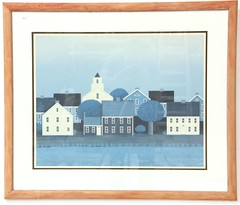 97. New England Folk Art Print