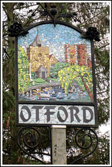 Otford, Kent. (marj.p. (Catching up!!)) Tags: kent village canonpowershot villagegreen otford villagesign englishvillages