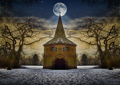 The new home of Harry Potter! (radonracer) Tags: moon harry potter harrypotter fantasy digiart