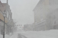 Blowing snow, downtown Portsmouth (Blake Gumprecht) Tags: winter snow weather downtown wind newhampshire blowing portsmouth february blizzard congressstreet 2013