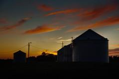 Rural Route (Pete Zarria) Tags: sky clouds rural farm bin silos agritecture roadsideiowa