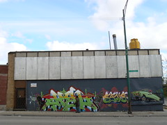 kel and sane and car (httpill) Tags: streetart chicago art graffiti tag graf kel sane