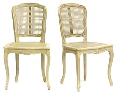 21. Pair of Painted Louis XV Style Side Chairs