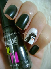 Desafio Animal II - #2 - Pinguim (Eva Super) Tags: art animal penguin nail preto pinguim risqu fosco desafio penguinnailart desafioanimalii nailartpinguim