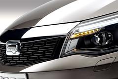 Qoros 3 Sedan - detail - front grille driving lamps on (bigblogg) Tags: sedan qoros3 qorosgq3 geneva2013