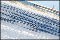 Beach Striations (Andy Marfia) Tags: winter snow chicago ice pier iso200 melting pattern f10 lakemichigan uptown 70300mm lakefront striation montrosebeach 1500sec d7000