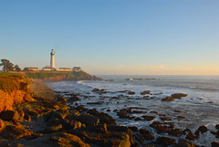 Pigeon Point (AndersHolvickThomas) Tags: ocean california sunset lighthouse coast d200 pigeonpoint