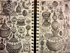 2011 Vessel Sketches 2 (Alberto J. Almarza) Tags: geometricart 3ddrawing vimana albertojalmarza levitatedobjects torisianstructures torisianvessels geometricsketches flyingvessels gridforms geometricshading