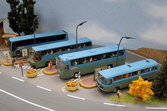 Gare routire (xavnco2) Tags: france bus station expo gare streetlamp passion ho bourse 187 lampioni diorama nord association lampadaire maquette autocar hoscale scalemodels routire modlisme diecastmodels 2013 modlesrduits wasquehal
