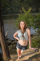 Tori-77 (mozzie71) Tags: park summer hot sexy water girl creek river bush model country young daisy yarra denim shorts aussie 18 tori dukes wonga