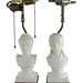 169. Pair of Napleon and Josephine Bisqueware Bust Lamps