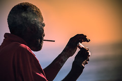 Cigarrillo Man (HVargas) Tags: portrait sculpture face painting person mood artistic expression smoke personality smoking photograph humo tabaco cigarrette likeness cigarrillo colilla personmood