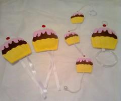 Kit de cozinha Cupcake (Dirce Artesanatos) Tags: eva cupcake kitdecozinha