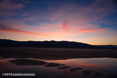 Islands In The Stream (andy_57) Tags: sunset reflection water clouds islands sand salt playa flats deathvalley streams marsh d800 furnacecreek 20mmf28d