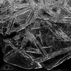 Crystalline Water (arbyreed) Tags: winter blackandwhite bw cold ice water frozen squareformat iced icecrystals arbyreed
