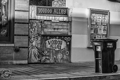 VooDoo Alley (CJ Schmit) Tags: blackandwhite bw monochrome bar canon memphis tennessee streetphotography bealestreet voodooalley 5dmarkii canon5dmarkii tamron70200mmf28dildifmacroaf cjschmit wwwcjschmitcom cjschmitphotography