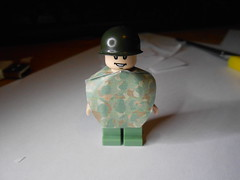 USMC Poncho prototype (zalbaar) Tags: world 2 usmc war lego wwii camo ww2 poncho customs zalbaar