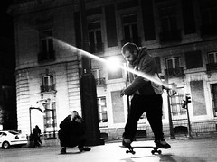 (bass.tone) Tags: madrid bw photographer skate trick