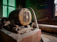 Panasonic LX7 Test: Boiler Pump (Entropic Remnants) Tags: pictures leica urban usa archaeology photography photo industrial image photos pics explorer picture pic images panasonic photographs photograph exploration archeology hdr remnants urbex entropic lx7 dmclx7 entropicremnants entropicremnantscom