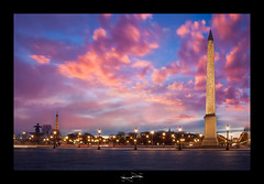 Place de la Concorde Paris ('^_^ D.F.N. Damail ^_^') Tags: voyage city travel blue light sunset favorite paris france color art love monument seine architecture canon reflections pose word de french geotagged fun photography photo reflex europe long flickr gallery photographie photos mark picture award best fave bleu most lumiere views romantic 5d capitale notre dame iledefrance reflets franais couleur clounds notredamedeparis clound francais artiste photographe 1635 longue 1635mm favoris photomatix poselongue poseb dfn damail borderfx 5dmarkii wwwdamailfr