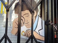 Put A Ring On It (misterbigidea) Tags: sf sanfrancisco street urban reflection art love window glass sign gold artwork gate closed jewelry ring diamond neighborhood business handpainted bling locked promise magnifying loupe jeweler appraisal behindbars signpainter valuable lockdown allthatglitters singleladies