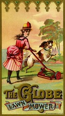 The Globe Lawn Mower (Alan Mays) Tags: old blue ohio red green dogs animals vintage ads paper advertising typography gold clothing women antique cincinnati 19thcentury victorian hats illustrations ephemera clothes dresses type oh banners henderson advertisements fonts printed depth borders printers lawns shadowing mowers companies typefaces multilayered nineteenthcentury lawnmowers scrolls lithographers achert tradecards reelmowers gaslightstyle hendersonachert hendersonachertco cylindermowers globelawnmower