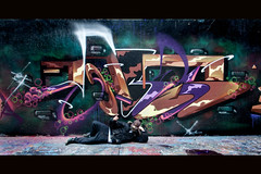 pozeyyy (KGB Click) Tags: street paris wall writing graffiti paint peinture graff rue throwup kgb wildstyle hva saner ptdq kgbclick pozeyy