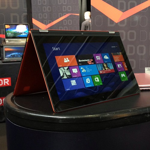 Lenovo IdeaPad Yoga 11. Definitely makes more sense at this size. #expandsf