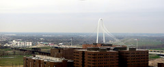 Margaret Hunt Hill Bridge (Gem Images) Tags: county bridge panorama usa court river hotel justice dallas texas center trinity jail expressway roads clerk 24thfloor margarethunthill