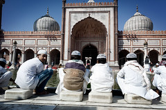 (Chris Moret) Tags: india kids delhi mosque scholars jamamashid 2013