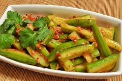 Mmm... cucumber kimchi (oi kimchi)