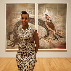 Artist Residency: Wangechi Mutu (Nasher Museum Blogs/Nasher Museum of Art at Duke U) Tags: collage mixedmedia opening conversation multimedia preview photoessay africandiaspora nashermuseum openingevent wangechimutu trevorschoonmaker barkleyhendricks nashermuseumofartatdukeuniversity afantasticjourney stacylynnwaddwell