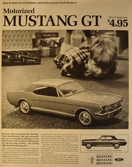 Motorized Ford Mustang GT Life Magazine Advertisement November 1965 (SenseiAlan) Tags: life november ford magazine advertisement mustang gt motorized 1965