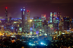 From Mt Cootha (loybax) Tags: city night canon lights australia brisbane qld queensland mtcootha 60d