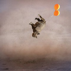 where the wind blows (Janine Graf) Tags: travel silly balloons flying surreal adventure sandstorm rhino artrage desolate bfe whimsical iphone whiterhinoceros passiveaggressive mobilephotography juxtaposer janine1968 artistahaiku vfxstudio scratchcam janinegraf squaready wowfx seatofherpants iwanttoweareddieredmaynelikeasweater